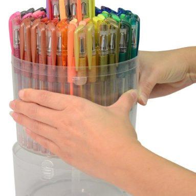 Gel Pen Set with Pop-up Case