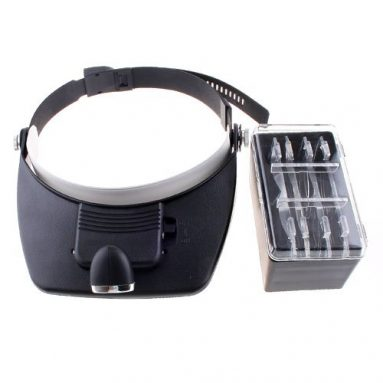 LED Head Lights Headlamp & Magnifying Glass Function