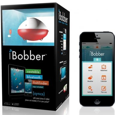 iBobber Wireless Bluetooth Smart Fish Finder for iOS and Android devices & JOTO Universal Waterproof CellPhone Case