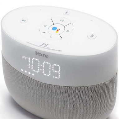 iHome Google Assistant Built-in Chromecast Smart Home Alarm Clock