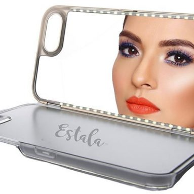iPhone Case With LED Lights and Mirror