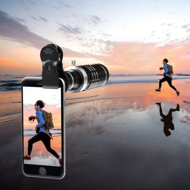 iPhone Lens 18X Telephoto Lens with Flexible Tripod and Universal Clip