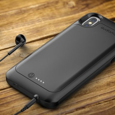 iPhone X AudioMate Smart Battery Case with Headphone