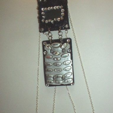 Recycled Cell Phone Necklace