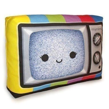 Happy Color TV Pillow