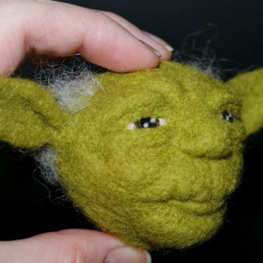 Yoda / OOAK needle felted wool sculpture