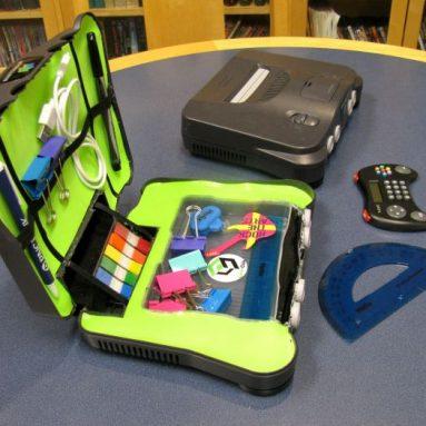 Recycled Nintendo 64 Desktop Organizer