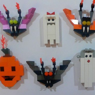 Wacky Halloween Lego Magnets