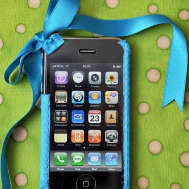 White Ribbon iPhone Cover