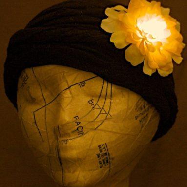 Light up LED Hair Flower clip