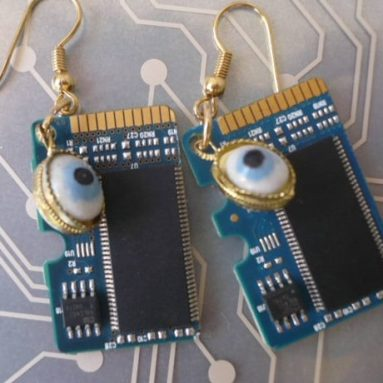 EARRINGS Recycled Computer