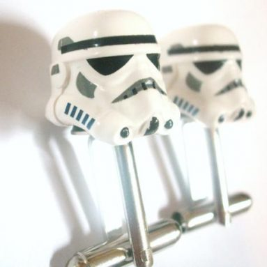 Star Wars Storm Trooper Helmet LEGO Silver Cufflinks