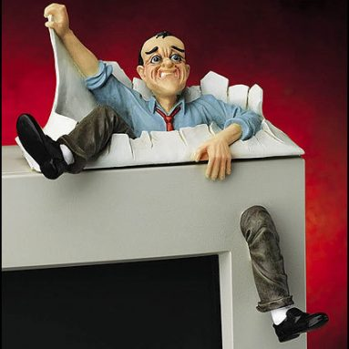 Frustrated Man Monitor Topper