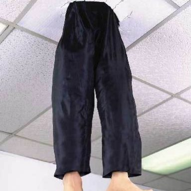 Legs trough the ceiling