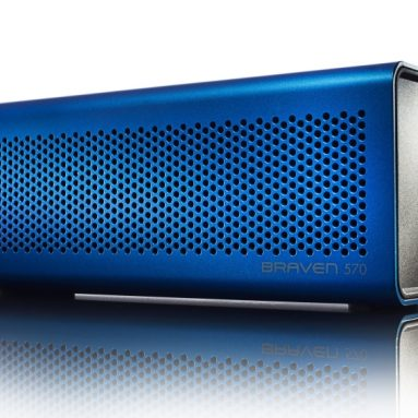 Braven 570 Blue Portable Bluetooth Speaker, Speakerphone and Charger
