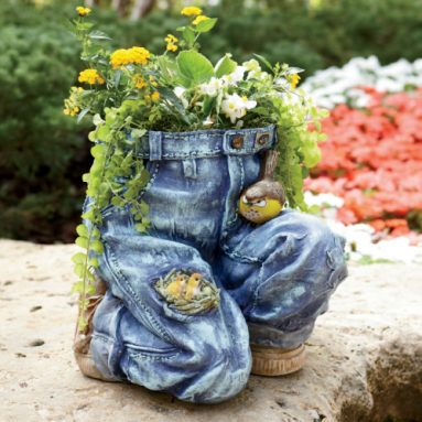 Jeans Planter in blue