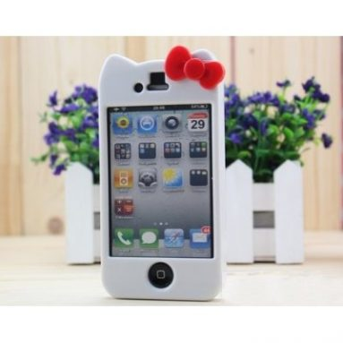 Hello Kitty Hard Case Cover iPhone 4 4S White