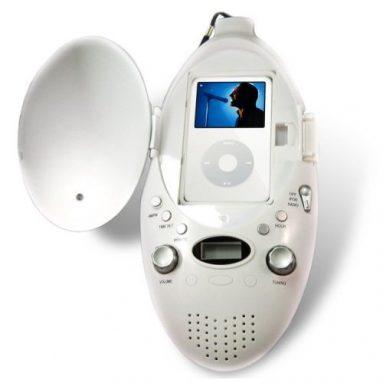 Shower Radio with Ipod Dock