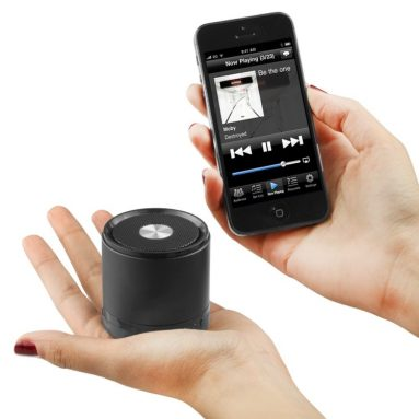 Mega Minitune Bluetooth Ultra Portable Black Speaker
