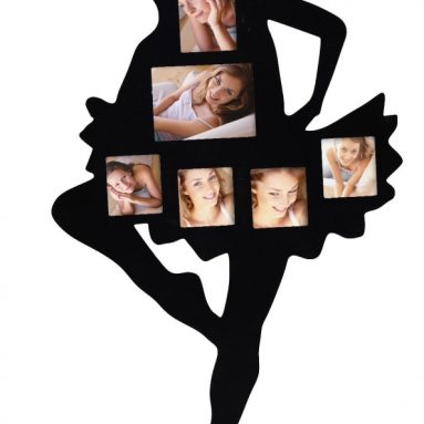 Black Wood Wall Haning Collage Photo Picture Frames