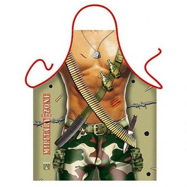 Military Man Sexy Kitchen Cooking Apron
