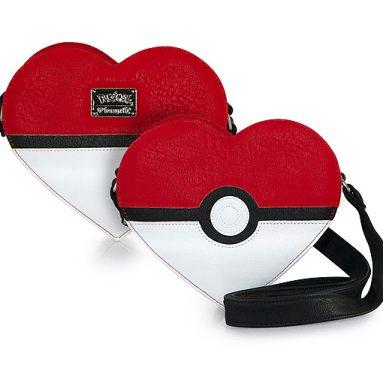 Poké Ball Heart Crossbody Bag