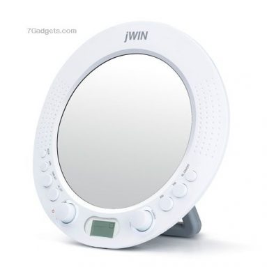 Splash-Proof AM / FM Radio with Alarm Clock Function