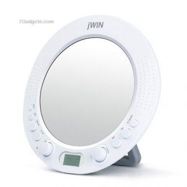 Splash-Proof AM / FM Radio with Alarm Clock Function