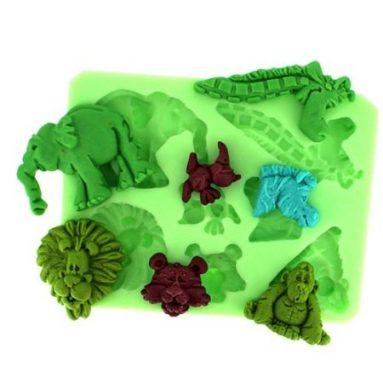 Animals Set Fondant Mold Silicone Sugar mold