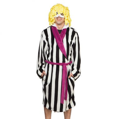 Beetlejuice Striped Suit Hooded Robe
