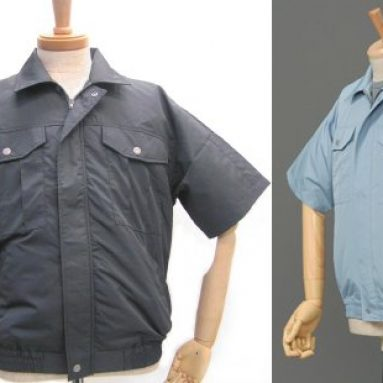 Short-sleeved polyester shirt with fans