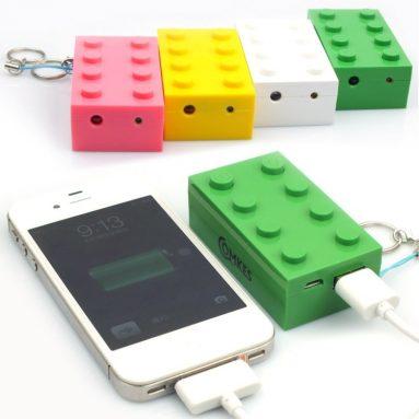 External Battery Power Bank Charger 3D Toy Brick LED Flashlight