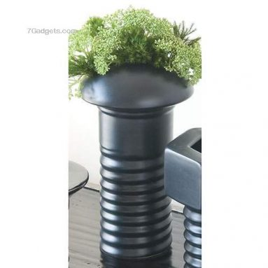 Phillips Head Screw Vase, Metallic
