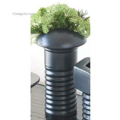 Phillips Head Screw Vase, Metallic