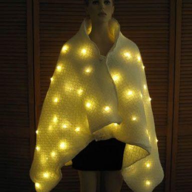 lighted golden cloak