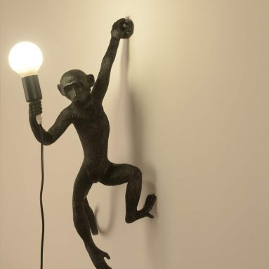 industrial Light Monkey Wall Lamp