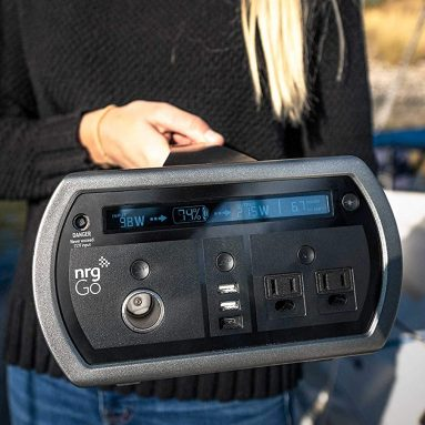 Portable Solar Generator w/1200W Pure Sine Wave Surge Inverter