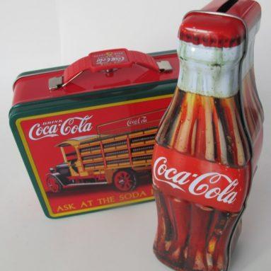Coca Cola Truck Lunch Box & Cola Bottle Bank