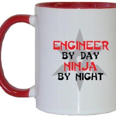 Engineer By Day Ninja By Night Coffee Mug