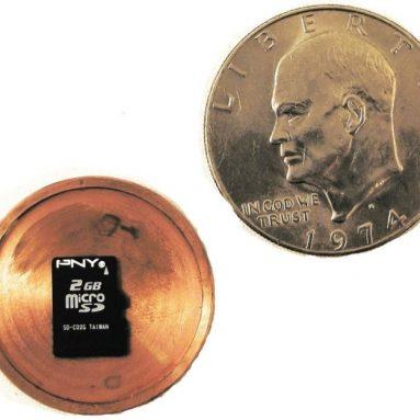 Micro SD Card Covert Spy Coin