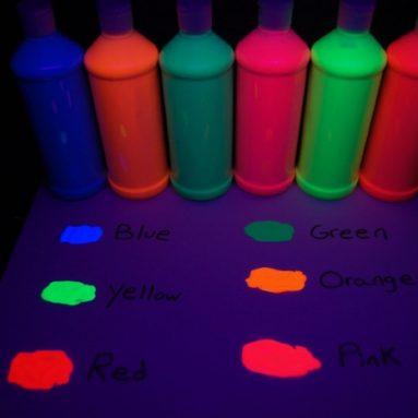 Reactive Fluorescent Tempera Paints