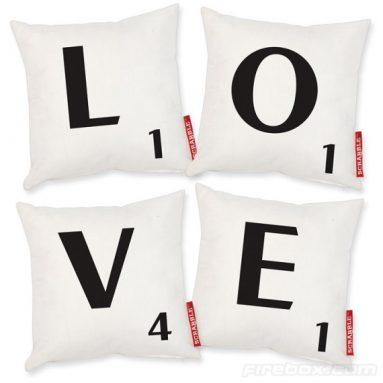 L.O.V.E. Scrabble Cushions