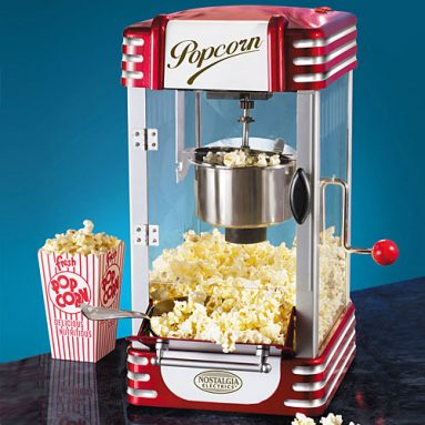 RETRO TABLETOP KETTLE POPCORN MAKER