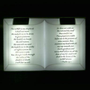 Solar-powered 23rd Psalm display