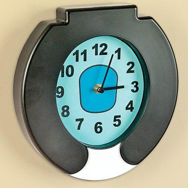 Flushing sound toilet clock