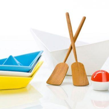"""Paper Boat"" Table Top Serving Set"