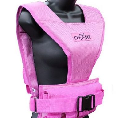 Pink Adjustable Weighted Short Vest