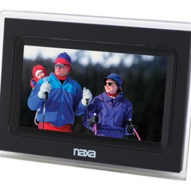 Naxa digital photo frame with speaker