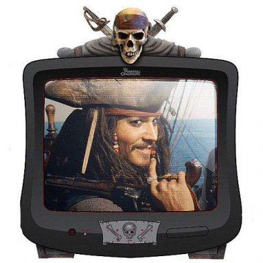 Disney Pirates of the Caribbean 13″ Color TV with Remote Control
