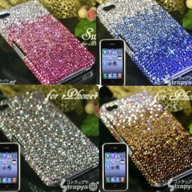 Hand-Made Swarovski Jewelry iPhone 4 Case